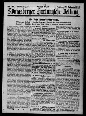 Königsberger Hartungsche Zeitung vom 18.02.1916