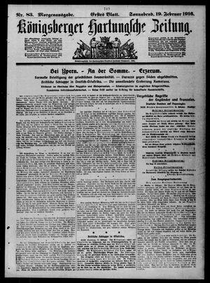 Königsberger Hartungsche Zeitung vom 19.02.1916