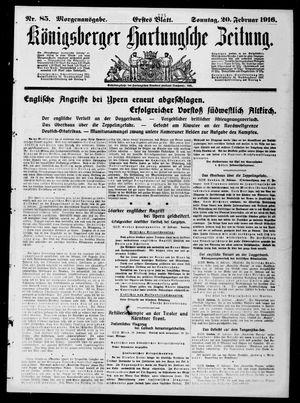 Königsberger Hartungsche Zeitung vom 20.02.1916