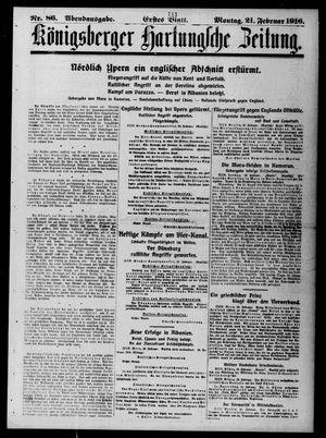 Königsberger Hartungsche Zeitung vom 21.02.1916