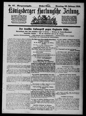 Königsberger Hartungsche Zeitung vom 22.02.1916