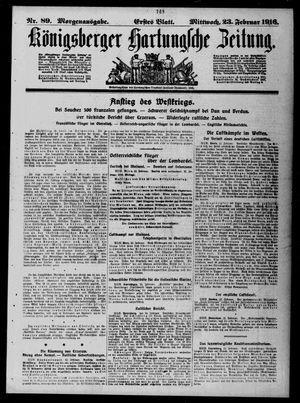 Königsberger Hartungsche Zeitung vom 23.02.1916