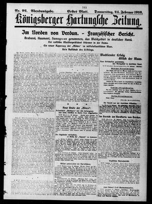 Königsberger Hartungsche Zeitung vom 24.02.1916