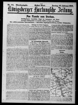 Königsberger Hartungsche Zeitung vom 25.02.1916
