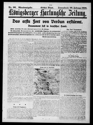 Königsberger Hartungsche Zeitung vom 26.02.1916