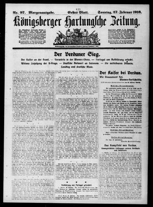 Königsberger Hartungsche Zeitung vom 27.02.1916
