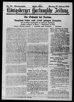Königsberger Hartungsche Zeitung vom 28.02.1916