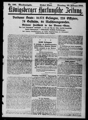 Königsberger Hartungsche Zeitung vom 29.02.1916