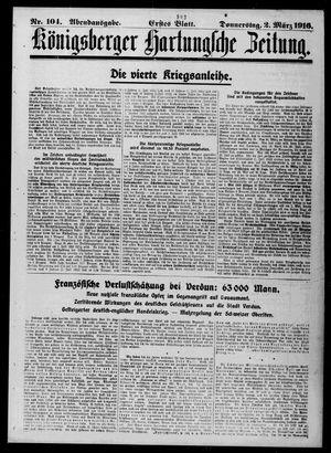 Königsberger Hartungsche Zeitung vom 02.03.1916