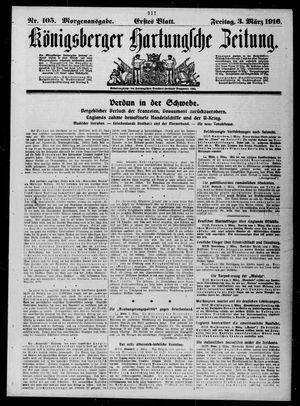 Königsberger Hartungsche Zeitung vom 03.03.1916