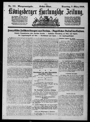 Königsberger Hartungsche Zeitung vom 07.03.1916