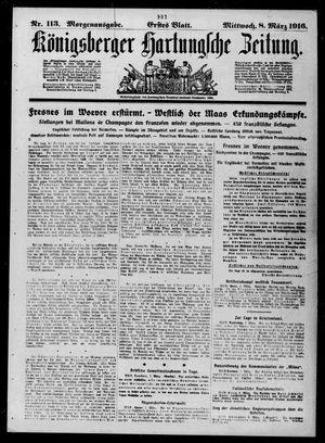 Königsberger Hartungsche Zeitung vom 08.03.1916
