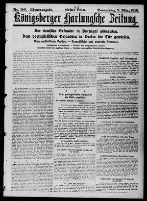 Königsberger Hartungsche Zeitung vom 09.03.1916