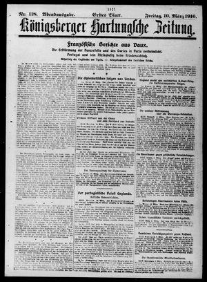 Königsberger Hartungsche Zeitung vom 10.03.1916