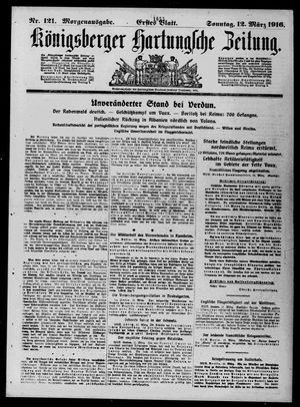 Königsberger Hartungsche Zeitung vom 12.03.1916
