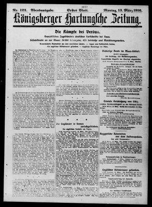 Königsberger Hartungsche Zeitung vom 13.03.1916