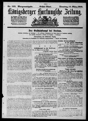 Königsberger Hartungsche Zeitung vom 14.03.1916