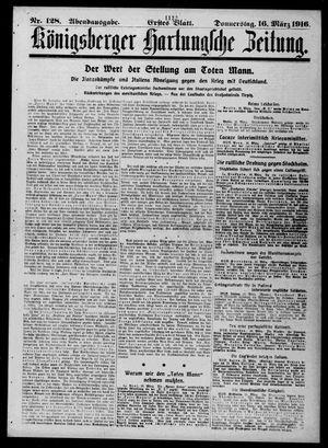 Königsberger Hartungsche Zeitung vom 16.03.1916