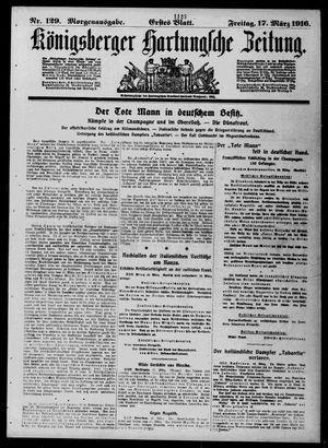 Königsberger Hartungsche Zeitung vom 17.03.1916