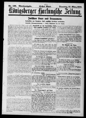 Königsberger Hartungsche Zeitung vom 21.03.1916