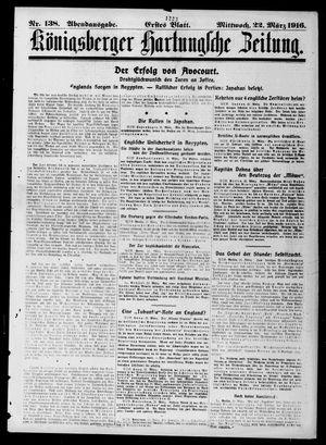 Königsberger Hartungsche Zeitung vom 22.03.1916
