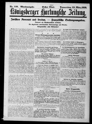 Königsberger Hartungsche Zeitung vom 23.03.1916