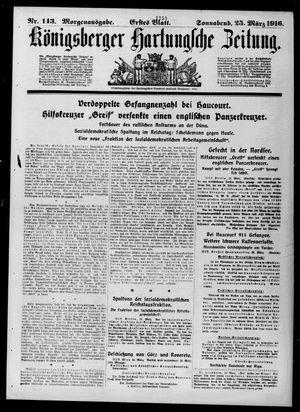Königsberger Hartungsche Zeitung on Mar 25, 1916