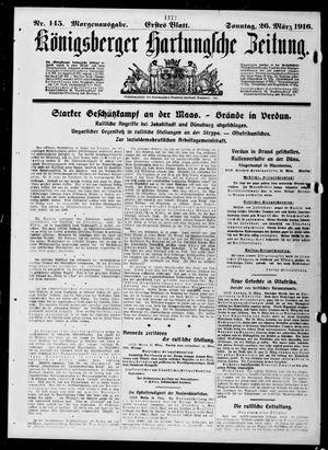 Königsberger Hartungsche Zeitung vom 26.03.1916