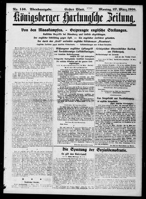 Königsberger Hartungsche Zeitung vom 27.03.1916