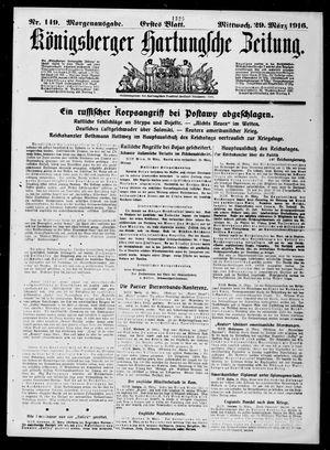 Königsberger Hartungsche Zeitung vom 29.03.1916