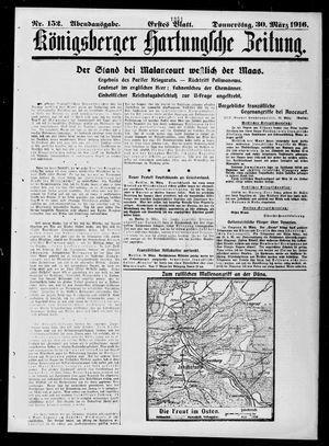 Königsberger Hartungsche Zeitung vom 30.03.1916