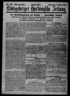 Königsberger Hartungsche Zeitung vom 05.04.1916