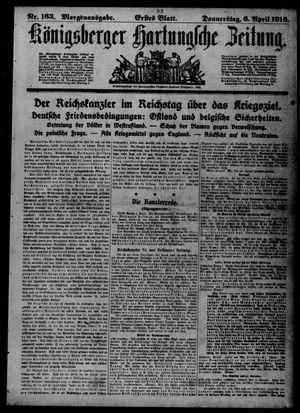 Königsberger Hartungsche Zeitung vom 06.04.1916