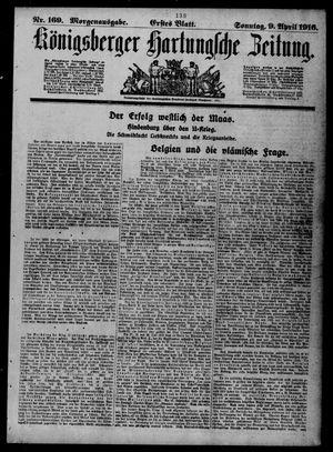 Königsberger Hartungsche Zeitung vom 09.04.1916