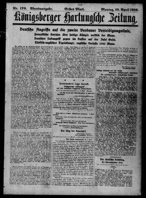 Königsberger Hartungsche Zeitung vom 10.04.1916