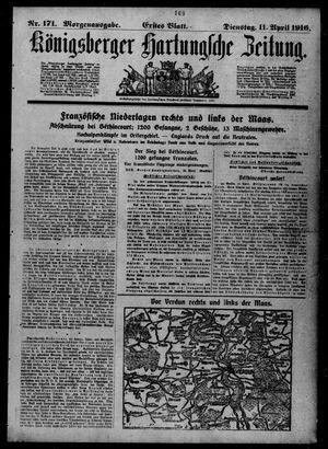 Königsberger Hartungsche Zeitung vom 11.04.1916