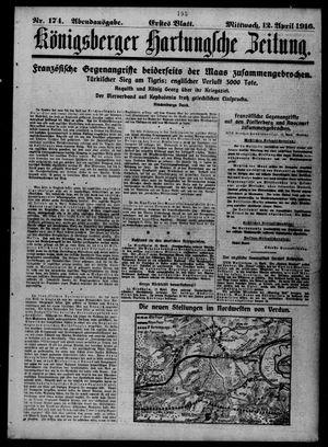 Königsberger Hartungsche Zeitung vom 12.04.1916