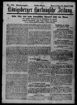 Königsberger Hartungsche Zeitung on Apr 13, 1916