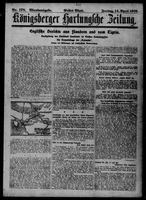 Königsberger Hartungsche Zeitung vom 14.04.1916