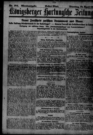 Königsberger Hartungsche Zeitung vom 18.04.1916