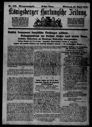 Königsberger Hartungsche Zeitung vom 19.04.1916