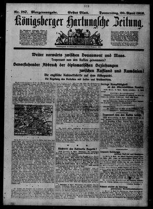 Königsberger Hartungsche Zeitung vom 20.04.1916
