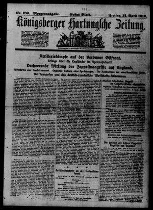 Königsberger Hartungsche Zeitung vom 21.04.1916