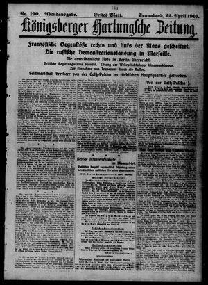 Königsberger Hartungsche Zeitung vom 22.04.1916