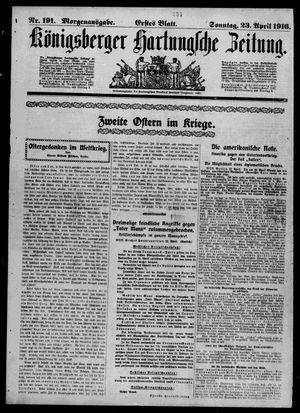 Königsberger Hartungsche Zeitung vom 23.04.1916