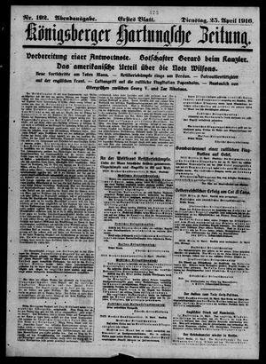 Königsberger Hartungsche Zeitung vom 25.04.1916