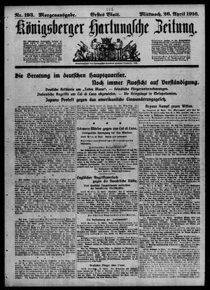 Königsberger Hartungsche Zeitung vom 26.04.1916