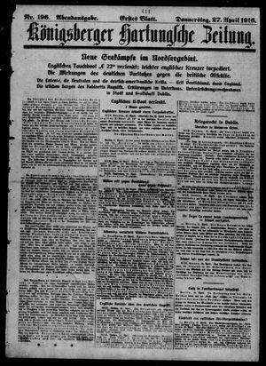 Königsberger Hartungsche Zeitung vom 27.04.1916