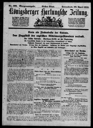 Königsberger Hartungsche Zeitung on Apr 29, 1916
