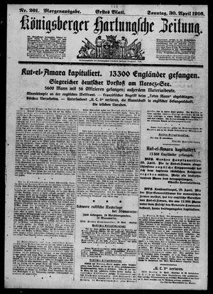 Königsberger Hartungsche Zeitung vom 30.04.1916